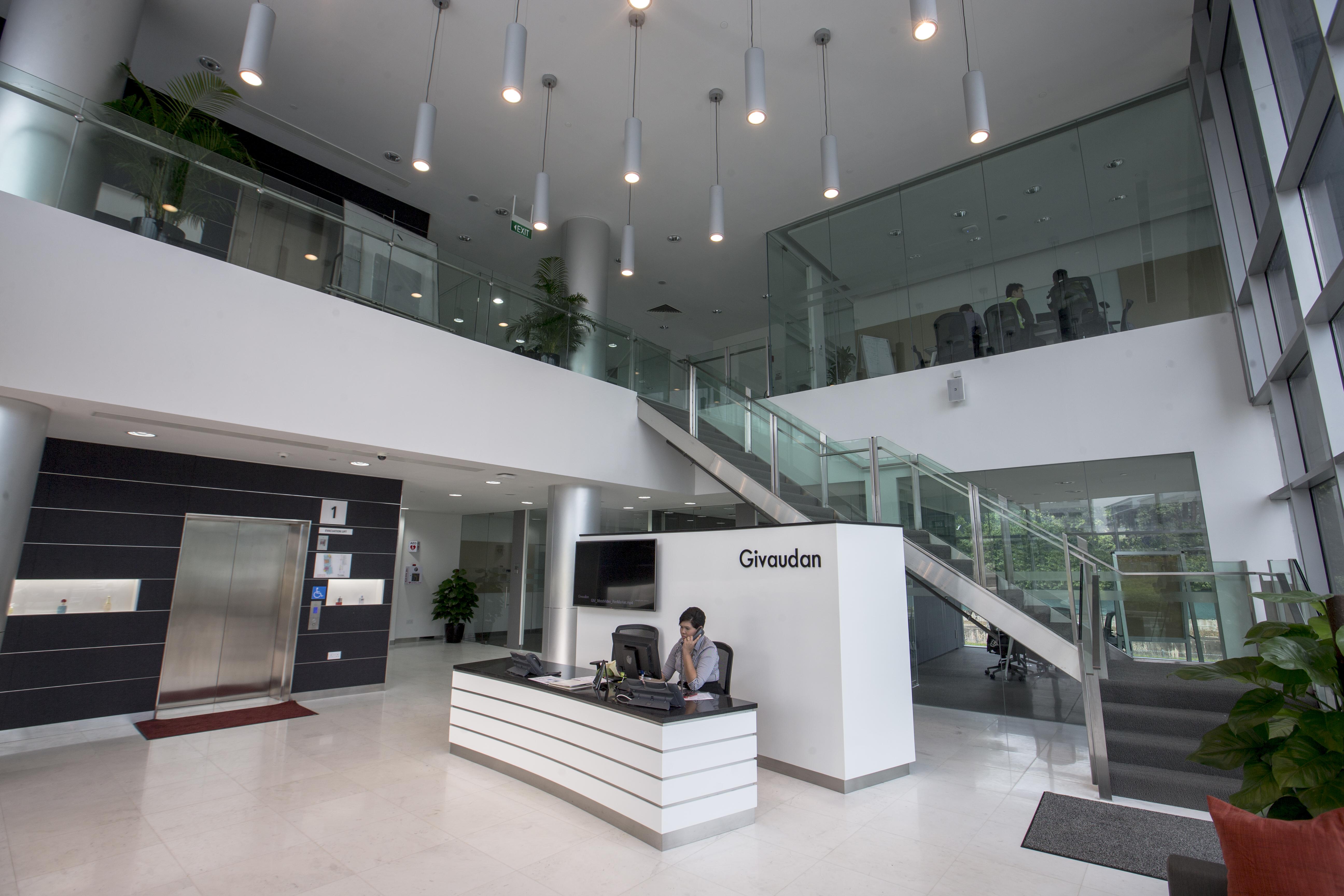 Singapore site, reception area