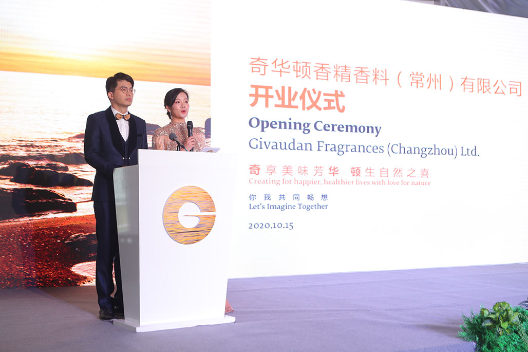 Master of ceremonies today are Cai Yao, Operations Management Trainee (Left) and Xulan Zhang, Production Supervisor of Changzhou site
